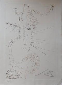 "Tristan le fou (""Mad Tristan""), Original etching, Handsigned"
