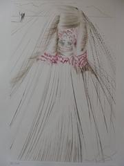 "La reine avait bliaut de sole (""The queen with silk tunic""), Etching, Handsigned"