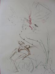 """Le dernier combat de Tristan (""""Tristan's last fight """"), Etching  Handsigned"""