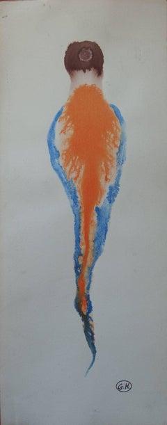 Sleeping Jellyfish - Original handsigned gouache