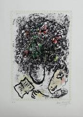 Art Flowers - Original Lithograph Handsigned