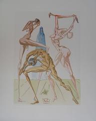 Hell 19 - The Simonists - Original signed woodcut - 1963