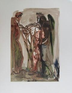 Purgatory 11 - The Haughty - woodcut - 1963