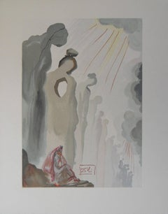Purgatory 13 - The Second Terrace - woodcut - 1963