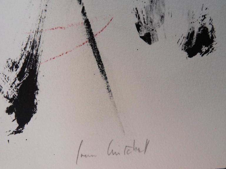 Trees in Red - Original handsigned lithograph - 125 copies - Print by Joan Mitchell