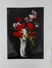 Wild flowers - Signed woodcut