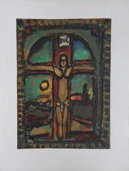 Crucifixion - woodcut