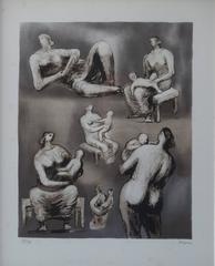 Mother and Child Studies - Original Handsigned Lithograph - 75 copies