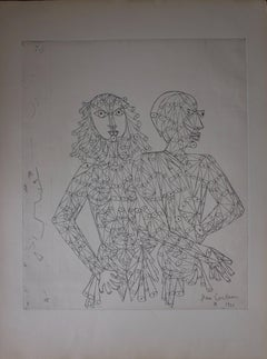 Le couple - etching (around 1960)