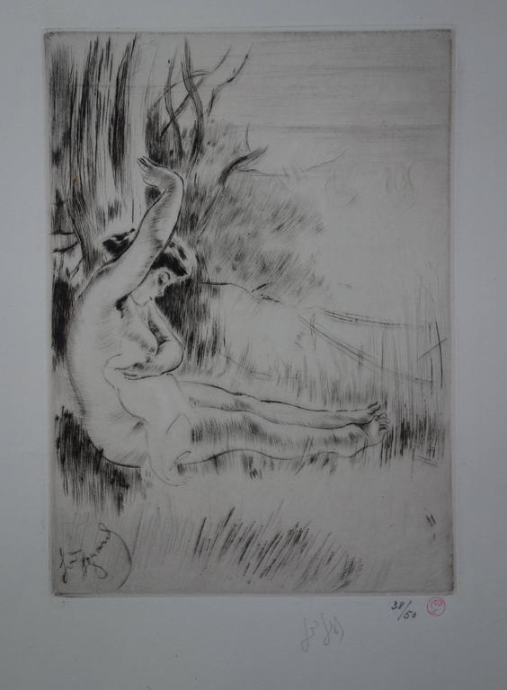Bather - Original Handsigned Etching - 50 copies - 1911
