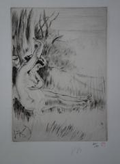 Bather - Original Handsigned Etching - 50 copies - 1911