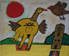Mocking Bird - Original Handsigned serigraph on canvas - 10 copies
