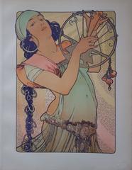 Alphonse Mucha - Salomé - original litograph (1897-1898)