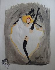 French Cancan - Original lithograph - 1956