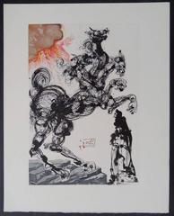 Cerberus - woodcut - 1963