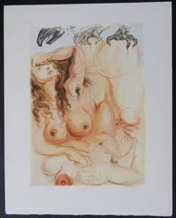 The Dream - woodcut - 1963