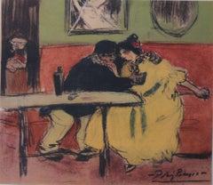 Pablo PICASSO (after) : Cabaret in Montmartre - pochoir - 500 copies - 1963
