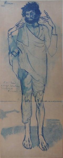 Pablo PICASSO (after) : The Fool - pochoir - 500 copies - 1963