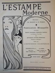 L'Estampe moderne - Original lithographie (1897/98)