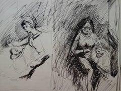 Maternity - Original signed drawing