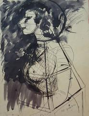 Girl in the night - Original signed drawing