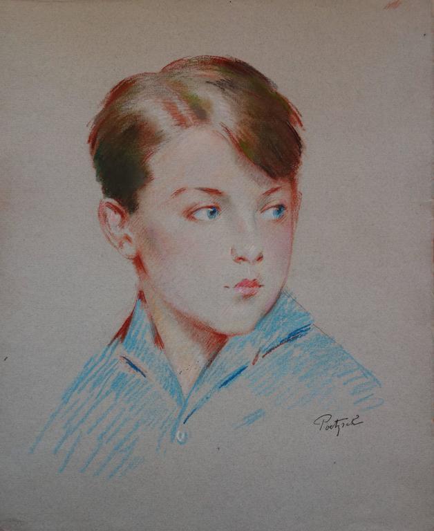 Blue Eyes Boy - Original Signed Charcoals Drawing