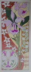 Orchids - Original Lithograph - Art Nouveau 1890s