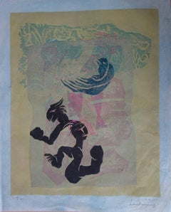 Garden of Joy - Original handsigned woodcut - 1981