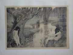 Bath of the Nymphs - Original lithograph - 1897