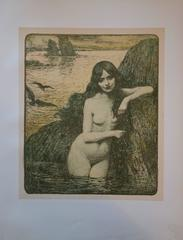 Mermaid - Original lithograph - 1897