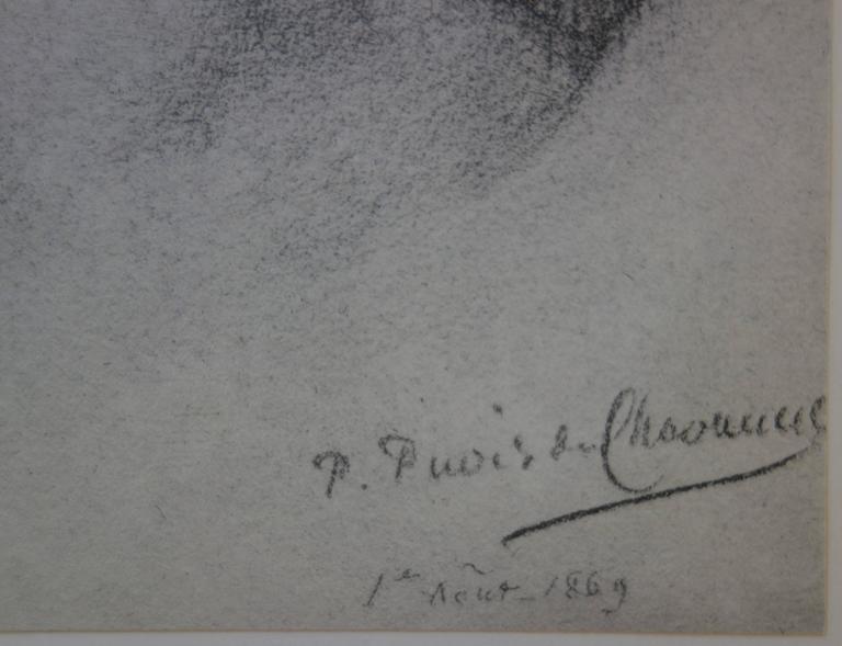 Hope - Original lithograph - 1897 - Print by Pierre Puvis de Chavannes