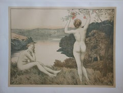 Fall - Original lithograph - 1897