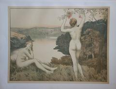Fall - Original lithograph - 1897