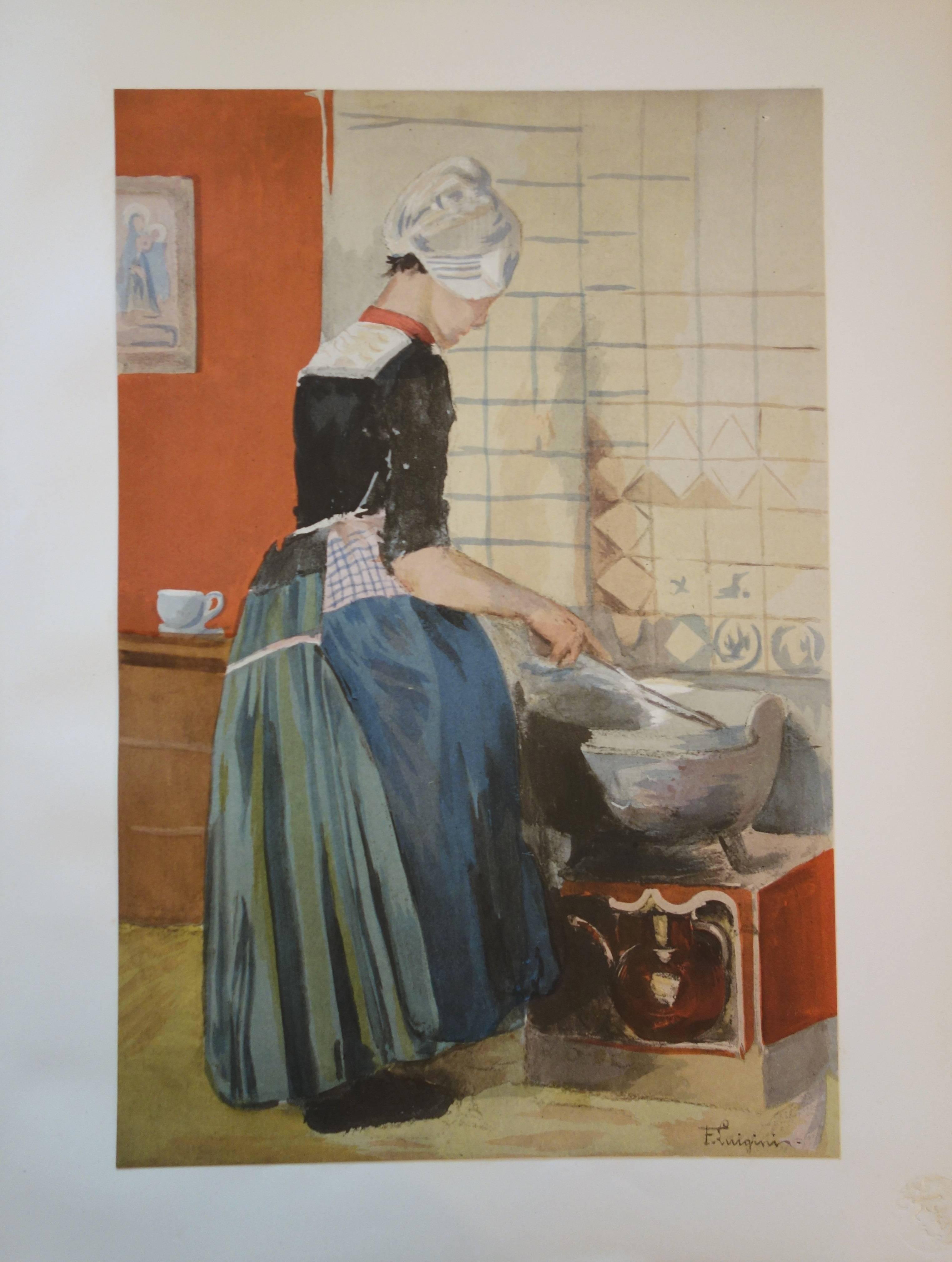 La servante - original lithograph (1897/98)
