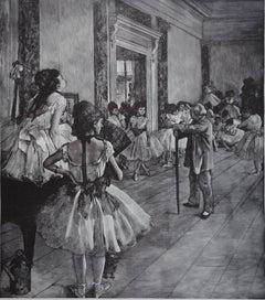 Dance class - Woodcut