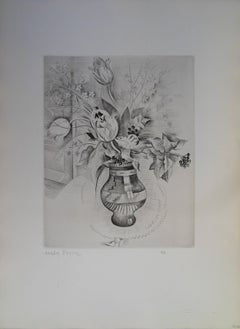 Flowers - Etching, Handsigned