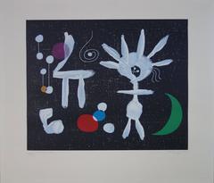 La Rosée Matinale au Clair de Lune - Original etching & aquatint - 1958