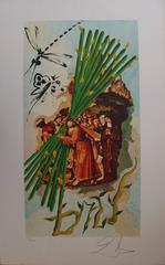 Ten of staves - Lithograph - 1978