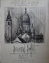 Sacre Coeur Church in Montmartre - Original etching - 1956