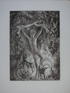 January : Rising New Year - Original handsigned etching - Exceptional n° 1/100