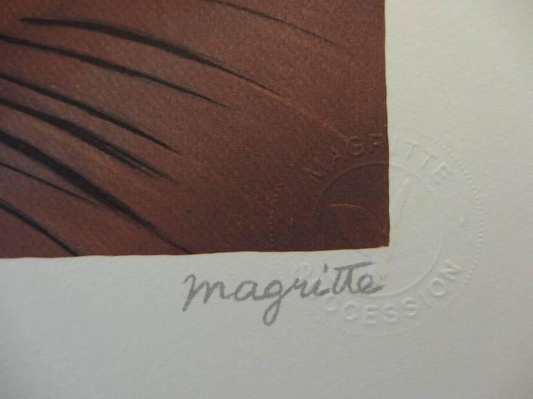 After ren magritte le faux miroir lithograph print for Miroir paris 18