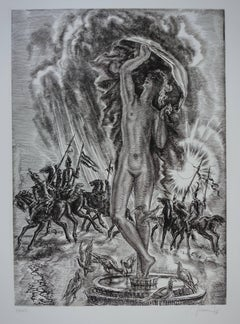 March : Last Fight of Winter - Original handsigned etching - Exceptional n°1/100