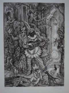 February : Carnival time - Original handsigned etching - Exceptional n° 1/100
