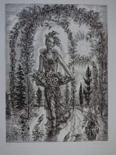 May : Blossom Spring - Original handsigned etching - Exceptional n° 1/100