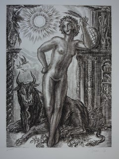 July : Rise of Nature - Original handsigned etching - Exceptional n° 1/100