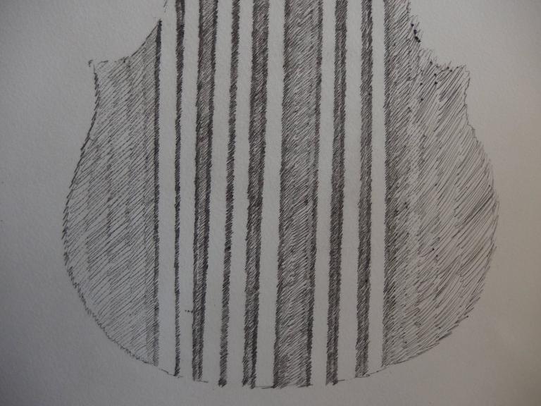 ARMAN Fernandez Violin and bows, 1979  Original Drypoint etching On Arches vellum 23 x 15