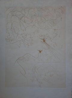 The Look - Original etching - 1969