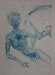 Whipping Woman - Original signed etching - 1969