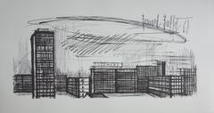 Buildings - Lithograph on vellum - 1968
