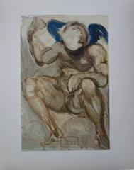 Purgatory 15 : The Envy - Color woodcut - 1963